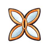 胡蝶しのぶ 日輪刀のつば ワッペン