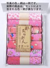 レーヨンちりめん・ピンク系柄カットクロスセット(22×16.5cmが7枚入)