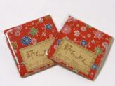 ちりめんカットクロス・花紅葉(赤)23×33cm