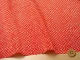 ちりめんカットクロス・疋田しぼり(赤)23×33cm