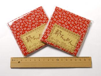 ちりめんカットクロス・小桜(赤)23×33cm