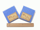 ちりめんカットクロス・青海波(青)23×33cm