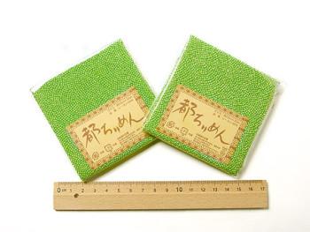 ちりめんカットクロス・鮫小紋(緑)23×33cm