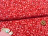 ちりめんカットクロス・菊紋(赤)23×33cm