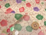 ちりめんカットクロス・彩梅(ねり色)23×33cm