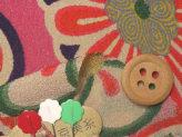 一越ちりめん・菊と梅(ピンク):カットクロス