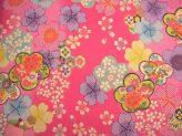 一越ちりめん・梅と桜(ピンク):カットクロス