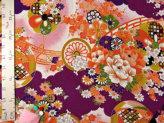 一越ちりめん・水辺の花景色(紫)