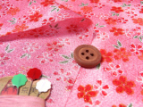 ちりめん生地・月光小桜(ピンク)