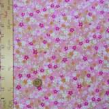 ちりめん生地・春と秋の花景色(ピンク)