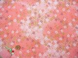ちりめん生地・桜吹雪(ピンク)
