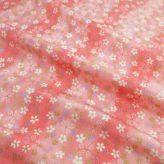 ちりめん生地 はすぼかしに舞桜(ピンク)