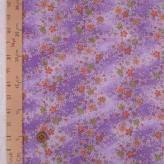 ちりめん生地 流れる桜(紫) 10cm単位 切り売り
