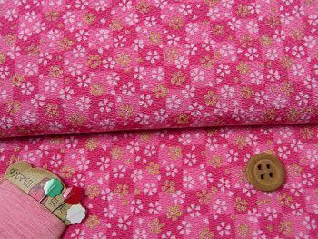 ちりめん・市松小桜(ピンク):カットクロス