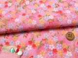 ちりめん生地・おぼろ桜(ピンク)
