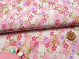 ちりめん生地・おぼろ桜(白/ピンク)