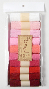 レーヨンちりめん・ピンク系無地カットクロスセット(22×16.5cmが10枚入)