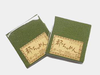 ちりめんカットクロス・無地(松葉)23×33cm