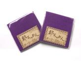 ちりめんカットクロス・無地(紫)23×33cm