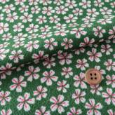 ちりめん・桜の夢(緑):カットクロス