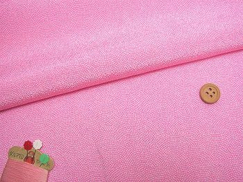 ちりめん生地・鮫小紋(ピンク)