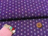 ちりめん・モダン麻の葉(紫):カットクロス