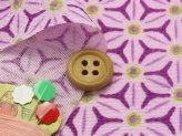 ちりめん生地・麻の葉の万華鏡(紫)
