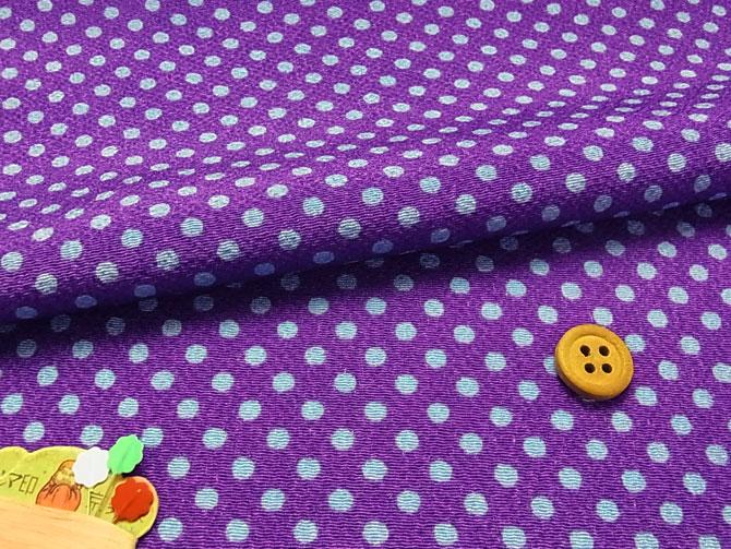 ちりめん生地・みずたま(紫)