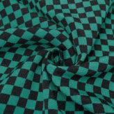 ちりめん生地 市松模様 1.2cm角(黒/緑)