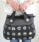 キット・手づくり和小物 ポケット付きラウンドバッグ
