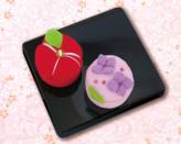 ちりめんキット・和菓子マグネット 椿とアジサイ