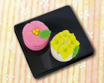ちりめんキット・和菓子マグネット 梅と菜の花
