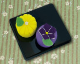 ちりめんキット・和菓子マグネット 菊と桔梗