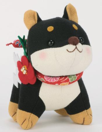 干支ぬいぐるみキット・福招き犬(黒柴)