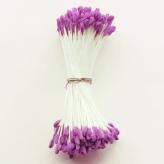 つまみ細工向き バラペップ・中(紫/糸白)144本入