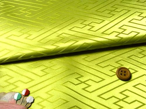 ジャカード生地・立体さやがた(黄緑)