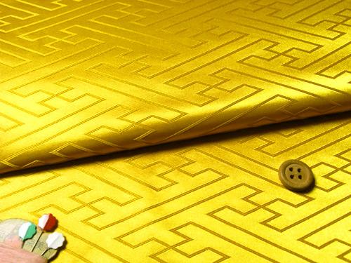 ジャカード生地・立体さやがた(黄色)