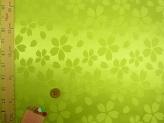ポリエステルりんず・リバーシブル桜柄(黄緑)