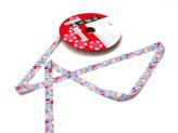 和りぼん1.5cm幅・桜に蝶(水色)