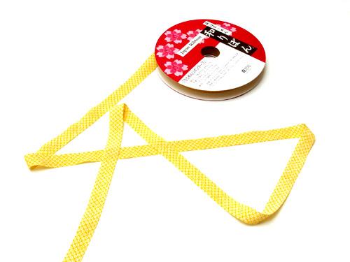 和りぼん1.5cm幅・鹿の子(黄色)