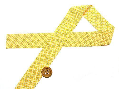和りぼん3cm幅・鹿の子(黄色)