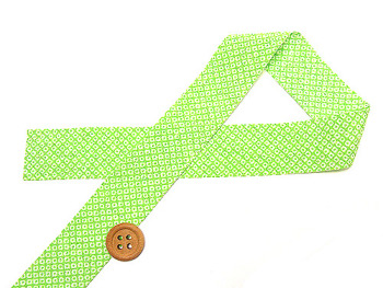 和りぼん3cm幅・鹿の子(黄緑)