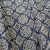 西陣織裂地・華紋(藍色)