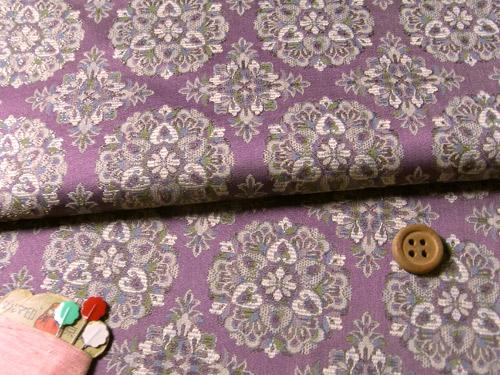 古帛紗向き西陣織正絹裂地ランキング3位華紋薄紫