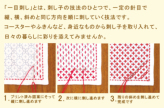 刺し子キット・一目刺しのランチョンマット 十字花刺し(生成)