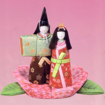 木目込み雛人形キット・桜のたちひな