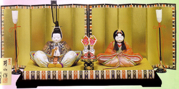 木目込み雛人形キット・親王飾・古今