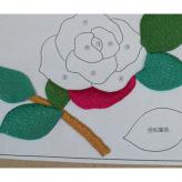 ちりめん手芸キット・薔薇の丸窓 壁飾り【限定販売】