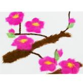 和紙ちぎり絵キット・ミニ壁掛け「梅」