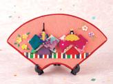 【限定販売】ちりめん手芸キット・桃の節句 上巳の扇面飾り